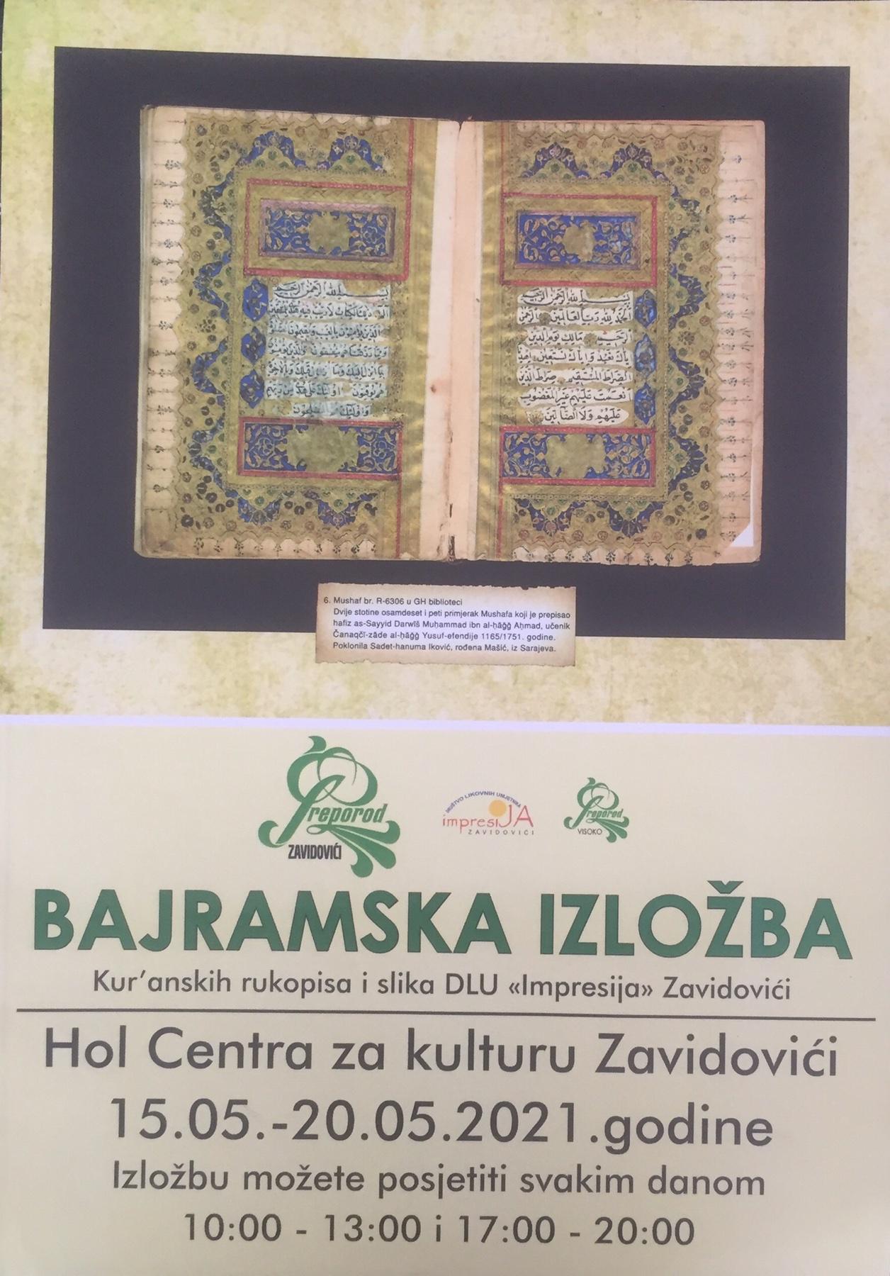 Izložba Kur'anskih rukopisa u Centru za kulturu