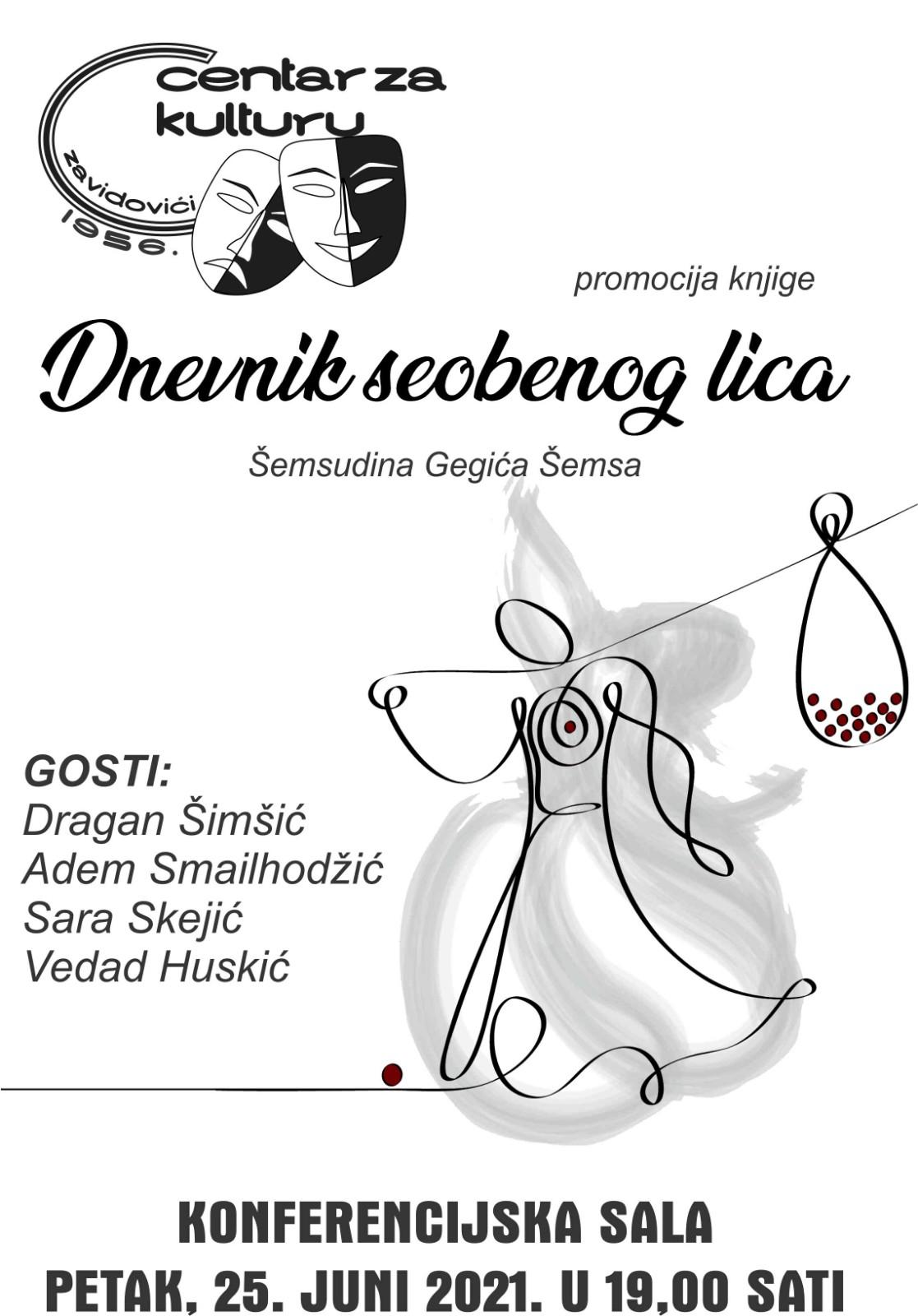 """Promocija knjige""""Dnevnik seobenog lica"""" autora Šemsudina Gegića Šemsa"""