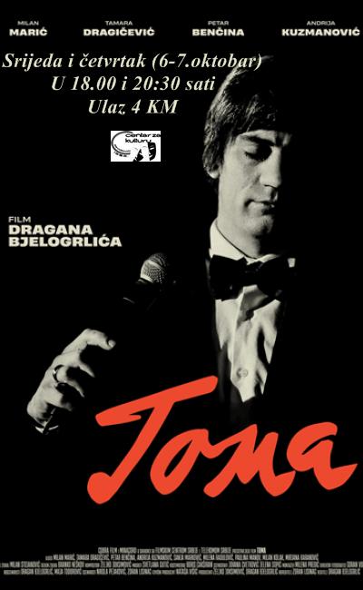 """Film""""Toma"""" u Centru za kulturu"""